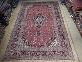 Rug 455 x 297 cm 10x15 Pre-Owned Persian Kashan Dasht-E-Kavir Desert Han... - $1,606.86