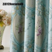CURTIANS The Blue Shading Curtain Fabrics European Pattern Simple Modern... - $10.70+