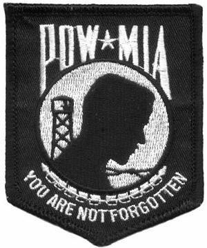 Embroidered Patch POW-MIA You Are Not Forgotten Patch