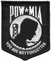 Embroidered Patch POW-MIA You Are Not Forgotten... - $3.95