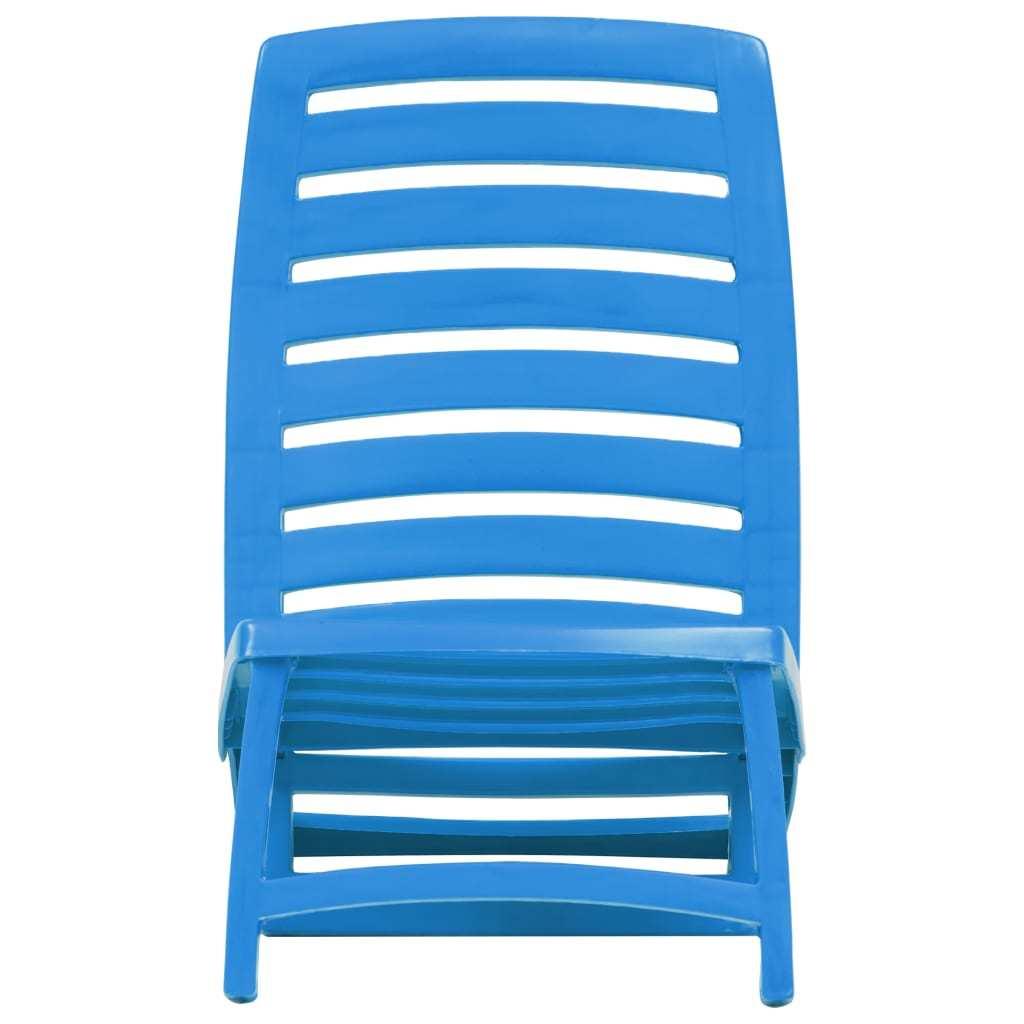 vidaXL 4x Folding Beach Chairs Plastic Beach Seat Outdoor Chair Multi Colors image 11