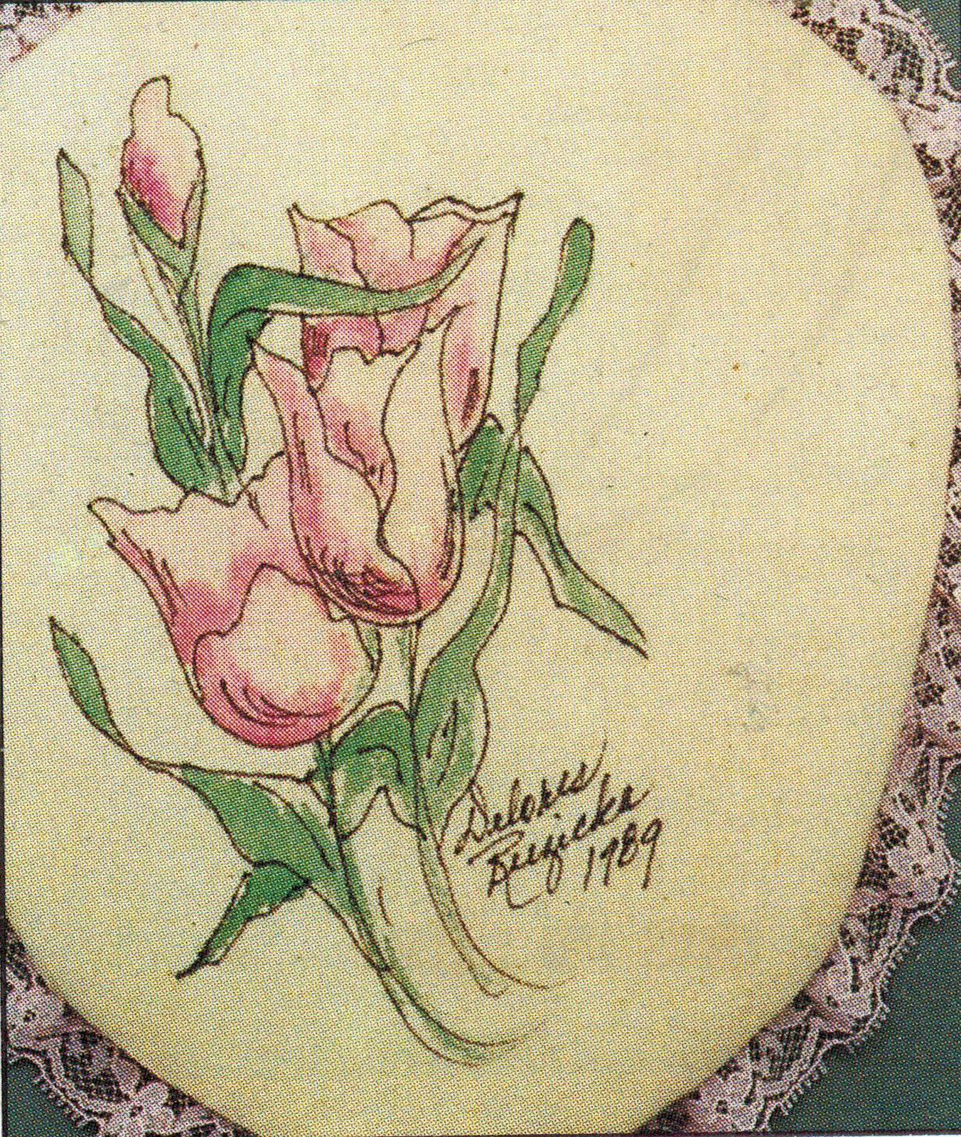 15 Vtg Victorian Florals Scribbles Iron On Transfer Fabric Painting Pattern Book