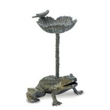 Modern Bird Bath, Hummingbird Bird Bath - Gray Aluminum Metal Birdbath - $108.66