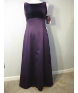Satin And Velvet Formal Gown By Niki Livas Size... - $68.00