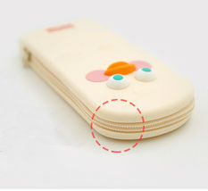 Brunch Brother Silicone Pencil Pen Case Pouch Bag Organizer (White Duck) image 6