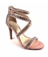 Jessica Simpson Ellenie2 Champagne Multi Strappy Stiletto Dress Sandals  - $71.20