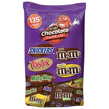 MARS Chocolate Favorites Halloween Candy Bars Variety Mix 69.2-Ounce 135... - $29.81
