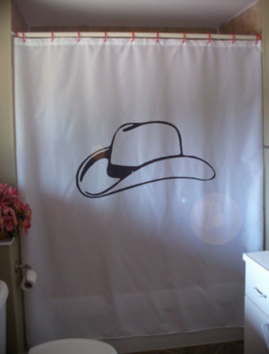 Primary image for Shower Curtain cowboy hat wild west stetson Texas Texan