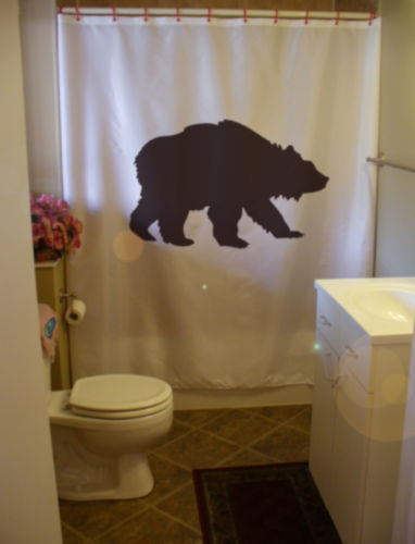 Primary image for Shower Curtain grizzly bear wild creature America black