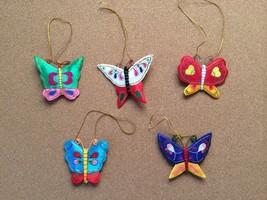5 Handmade Fabric Butterflies Hanging Ornaments - $31.68