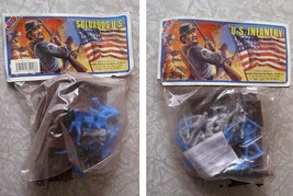 U.S. Infantry Toy Soldiers Play Set Mexico 1990s With Civil War Mansion - $26.99