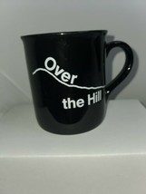 Vintage 1985 Hallmark Over The Hill Black Ceramic Coffee Mug Cup - $10.00