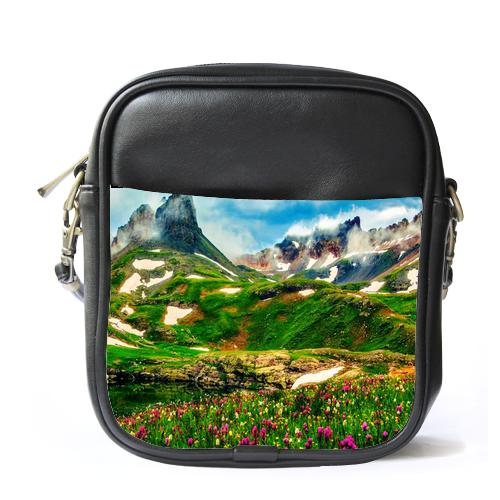 Sb1424 sling bag leather shoulder bag mountain v