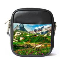 Sling Bag Leather Shoulder Bag Mountain View Beautiful Nature Design Des... - $14.00