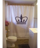 Shower Curtain royal crown king queen monarch prince - $59.99