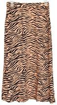 Sans Souci Women's Orange & Black Tiger Animal Print Slit Midi Skirt Size S image 2