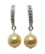 Modern Styling Earrings Yellow Pearl Gifts For Holiday  - $13.20