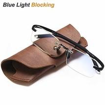 Rimless Reading Glasses for Men&Women - Blue Light Blocking Frameless Re... - $17.16
