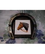 Vintage Horseshoe Horse Tile Ashtray Souvenir Collector Collectible  - $14.95