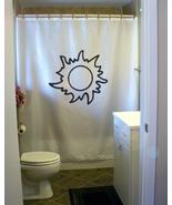 Shower Curtain sun corona outline ray shine solar light - $85.75 CAD