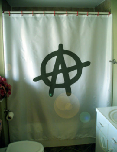 Primary image for Shower Curtain a is for anarchy anarchist freedom power