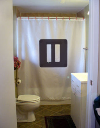 Primary image for Shower Curtain pause sign symbol think relax rest clear