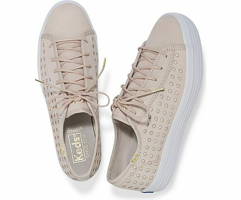Keds WH59087 Women's Triple Kick Perf Leather Pink shoes, 6 Med image 2
