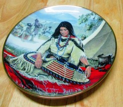 Sacajawea Collector's Plate with Art by David Wright Hamilton Collection - $8.95
