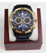 Guess Men's Watch U0377G4 Iconic Blue-Plated and Rose Gold-Tone Watch - $64.99