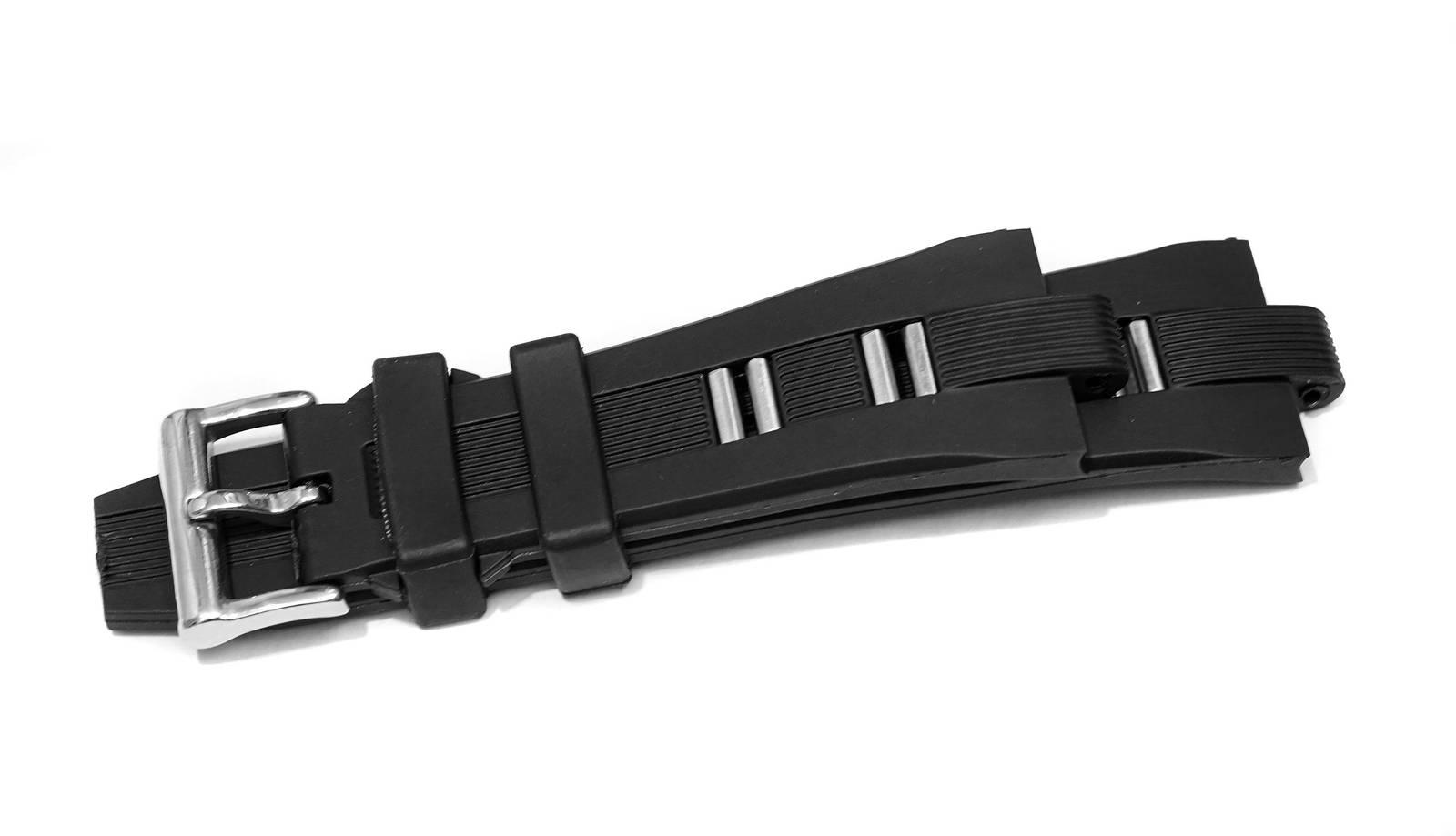 New Black Silicone Rubber Strap Band Bracelet For Bvlgari Diagono 26mm X 8mm