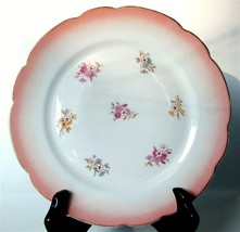 """2 Pretty Antique Porcelain Hand Painted Plates 8.5"""" - $24.99"""
