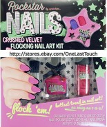 ROCKSTAR by SPRINKLES 3pc Flocking CRUSHED VELVET Nail Polish+Brush+Dust... - $8.10