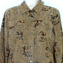 Bamboo Traders Shirt Jacket Button Up Women Size S Brown Lightweight Lon... - $19.76
