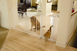 Carlson Maxi Walk-Thru Gate with Pet Door 1210PW for dogs - $112.19
