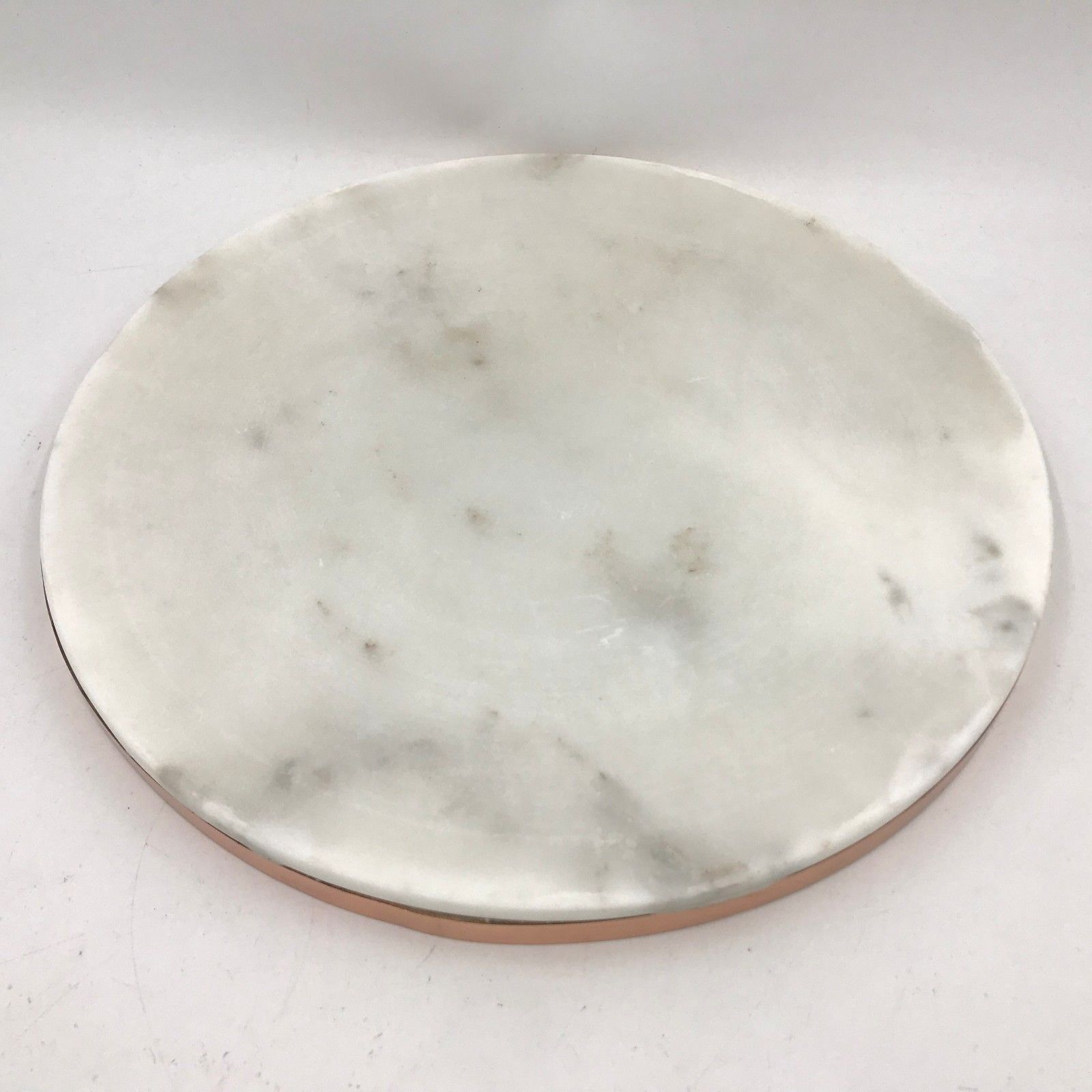 """Williams Sonoma Marble and Copper Cheese Serving Round Board Tray 12.75"""" PY3"""