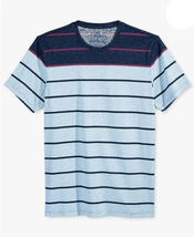 American Rag Cie Men's Striped Basic Navy V-Neck T-Shirt Size XS - $11.87
