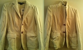 RALPH LAUREN $398+ corduroy riding blazer jacket cream off-white wide wale NWT! - $279.99