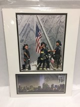 September 11 Heroes USA First Day of Issue 12 x 16 Photo 9/11 Firefighters  - $29.69