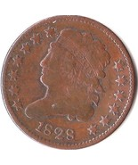 1828 Classic Head Half Cent Nice VF * Circulated US Coin *  13 Stars - $78.87 CAD