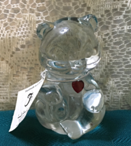 Vintage FENTON GLASS Birthstone Bear JULY BIRTHDAY Ruby Birthstone Colle... - $14.00