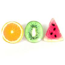 3pcs Pin Fruit Orange Kiwi Watermelon Red Green Lovely Cute Gift Brooch Lapel - $8.99