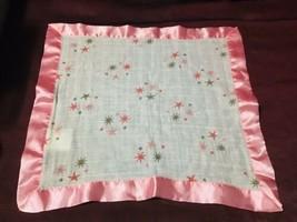 Aden + Anais Pink Star Silky Satin Trim Security Blanket - $37.62