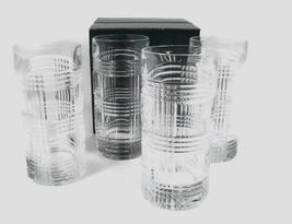 Ralph Lauren Set of 4 GLENPLAID High Ball Crystal Glasses 13.5 Oz  NEW G... - $67.31