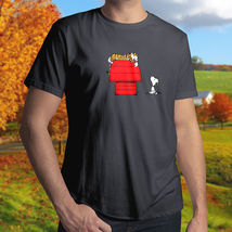Calvin Hobbes Peanut Snoopy House Crossover Cotton Men's T-Shirt - $13.99+