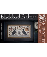 Blackbird Fraktur cross stitch chart Plum Street Samplers  - $12.60