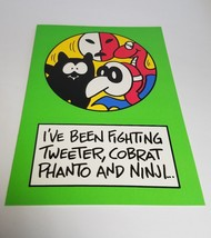 """Vintage Super Mario Brothers Greeting Card Nintendo 1989 - """"I've Been Fighting"""" - $9.99"""