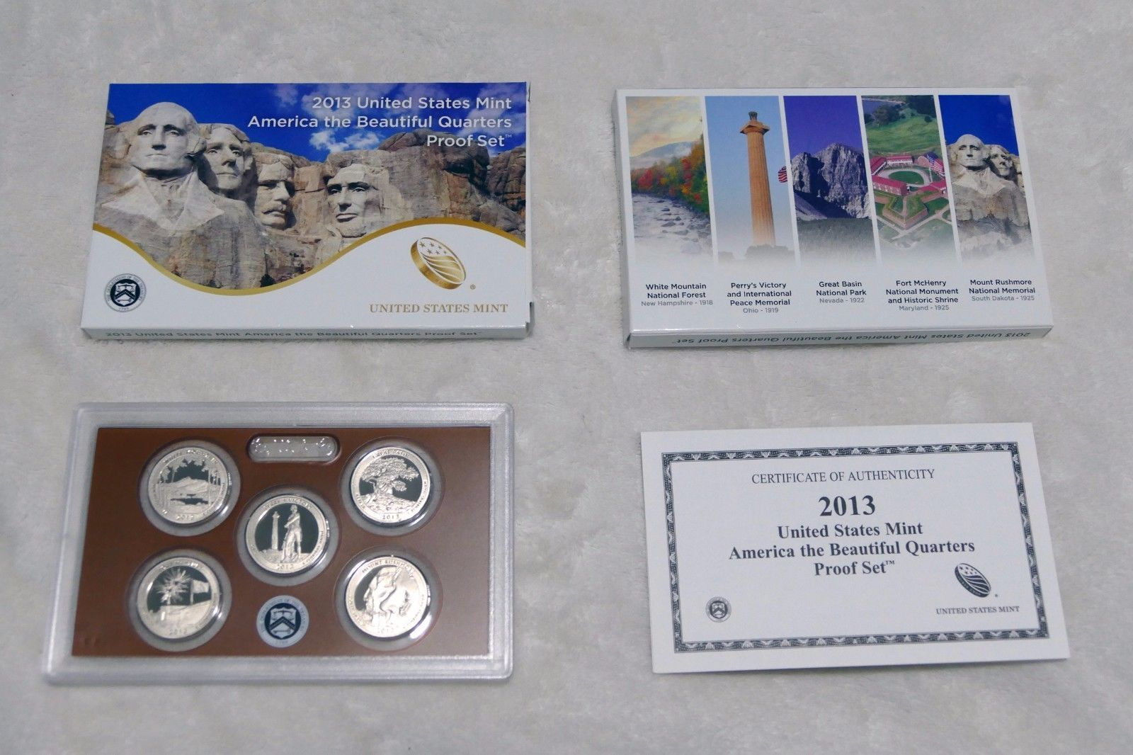 Primary image for 2013  ATB QUARTERS PROOF SET W/ THE MT. RUSHMORE VOTED BEST CIRCULATING COIN
