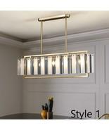 Glass Chandelier Rectangle Kitchen Island Hanging Light Fixture Home Dec... - $1,259.99+