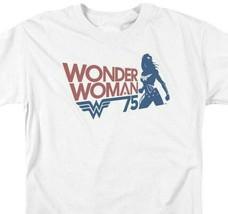 Wonder Woman Silhouette t-shirt 75th anniversary DC Comics graphic tee JLA711 image 2