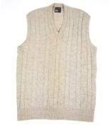 Robert Bruce Mens Size XLT  Brown Tan Cable Knit Sweater Vest EUC Wool B... - $10.39